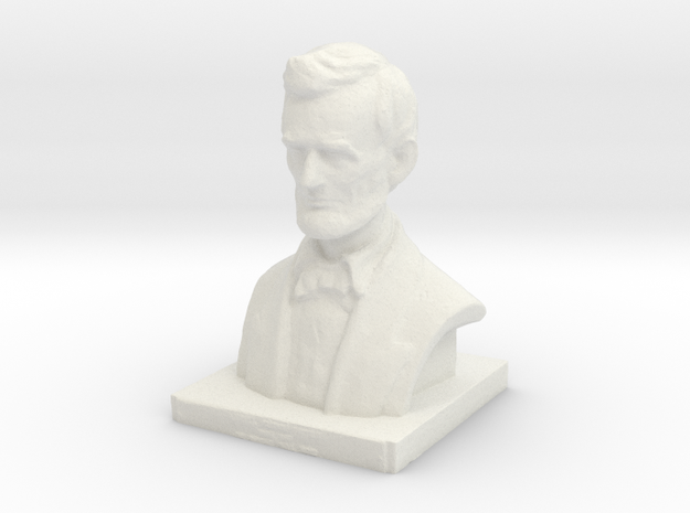 Lincoln-3.printer2 in White Strong & Flexible