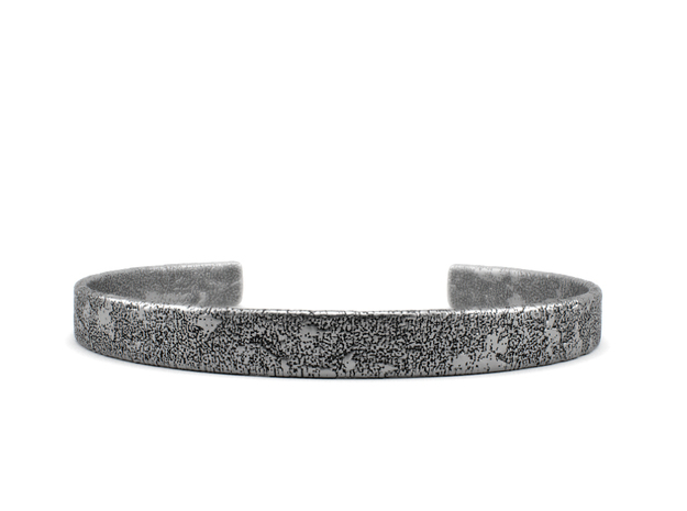 Corrosion -  Size 7.50 Sterling Silver Bangle in Polished Silver: Extra Large