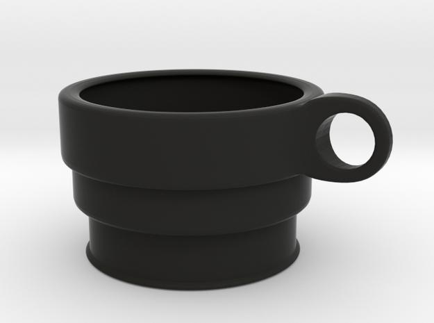 CupHolder / Name Customizable in Black Natural Versatile Plastic