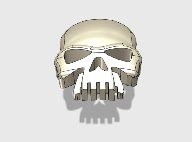 60x Skull : Shoulder Insignia pack in Frosted Extreme Detail