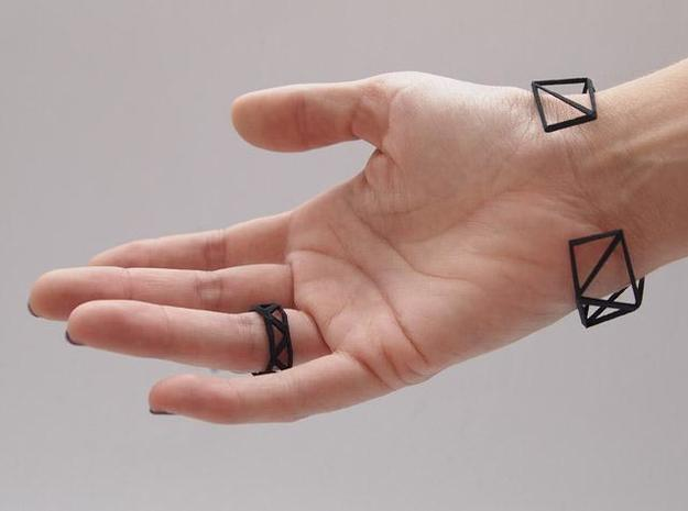 Comion ring medium 3d printed ring plus open bracelet