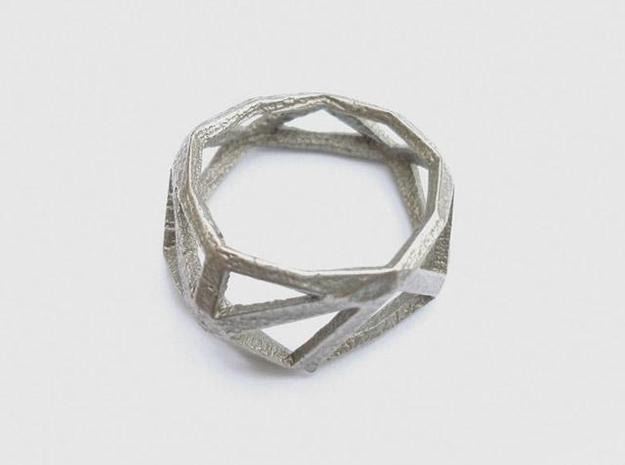 Comion ring medium  3d printed comion stainless steel ring