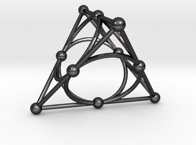 Desargues Configuration in Polished and Bronzed Black Steel