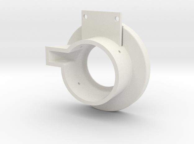 Rampage Encoder Mount Left Front in White Natural Versatile Plastic