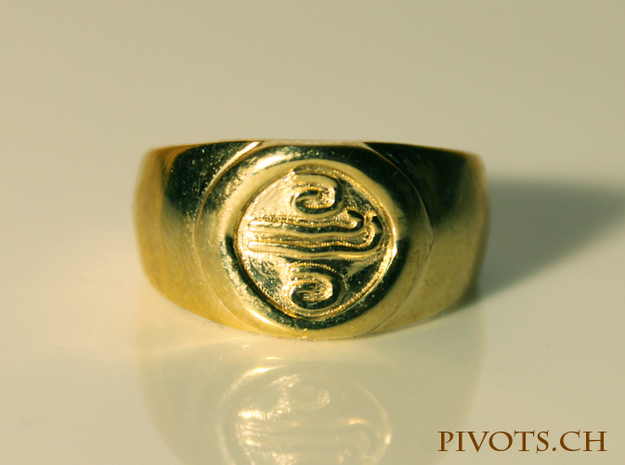 4 Elements - Air Ring in Polished Brass