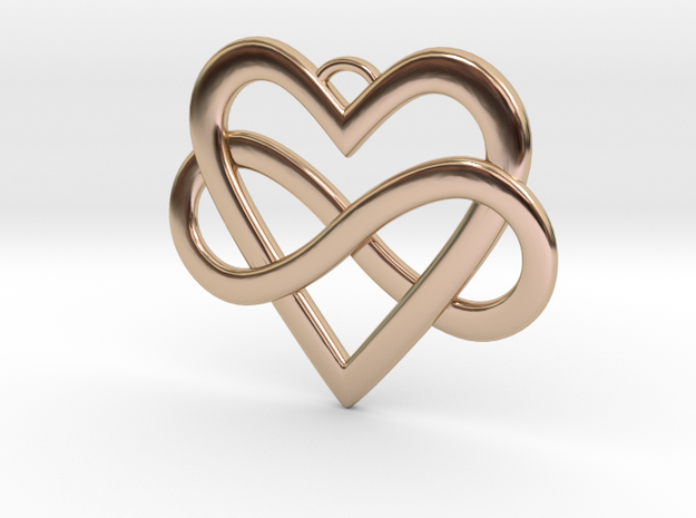 EverHeart necklace in 14k Rose Gold Plated Brass