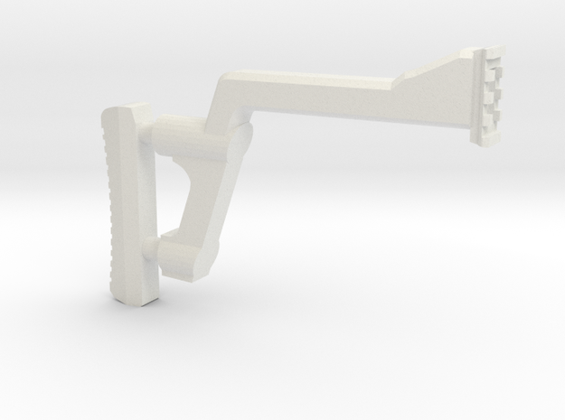 GMU Shoulder Stock (Long Version) in White Natural Versatile Plastic