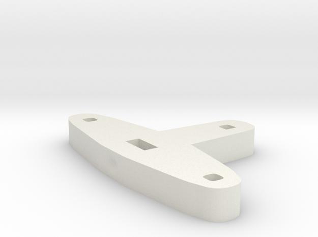 Tiller for Flap Rudder V03 1:87 in White Strong & Flexible