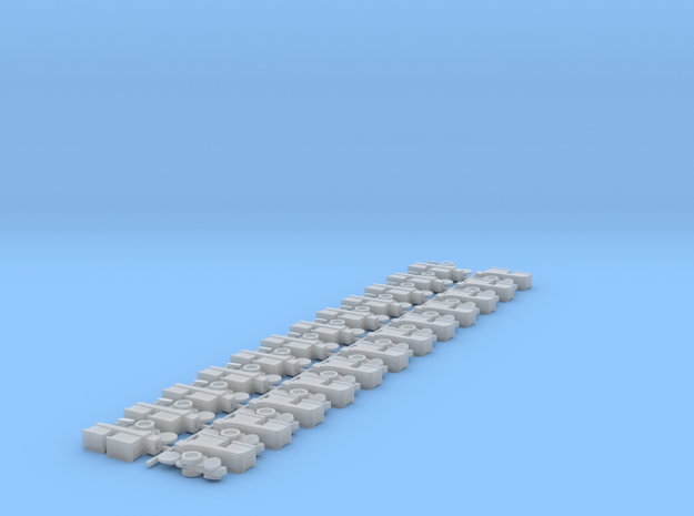 Planter Row Units (24) in Smooth Fine Detail Plastic