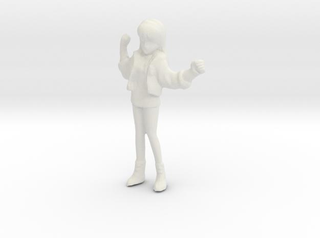 1/48 Race Queen Cheer Leader Asuka in White Natural Versatile Plastic