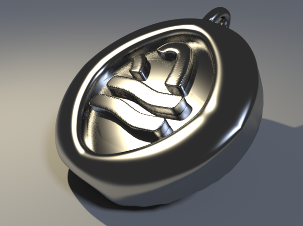 4 Elements - Water Pendant 3d printed Rendered Blender Image
