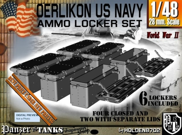 1-48 Oerlikon US Navy Ammo Locker Set