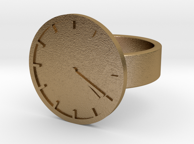 4:20 Ring in Polished Gold Steel: 10 / 61.5