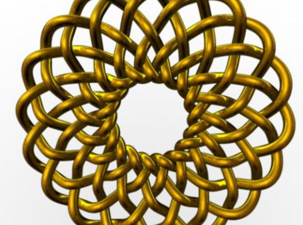 Celtic Knots 02 3d printed Rendered in gold with Maya.