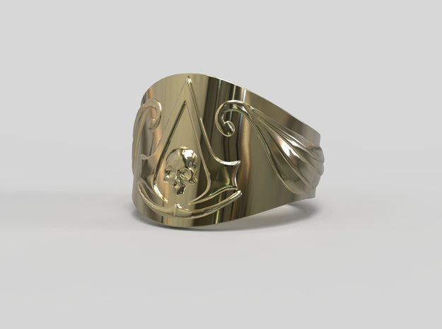 Pirate Assassin's ring in 14k Gold Plated: 8 / 56.75