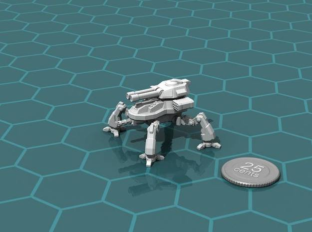 Terran Artillery Walker 3d printed Render of the model, with a virtual quarter for scale.