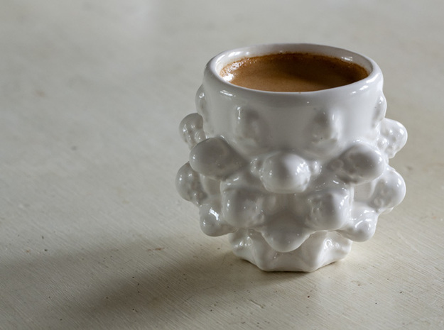 Mandelbulb Espresso Cup - Hardcore version