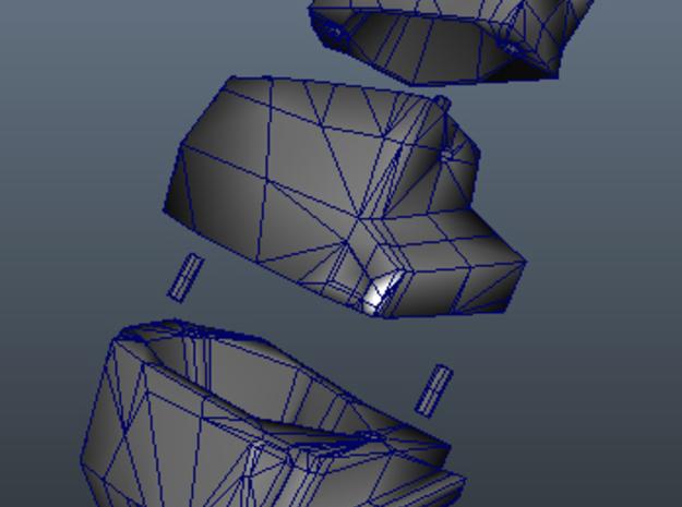 Rbrestplate2 3d printed Assembly details