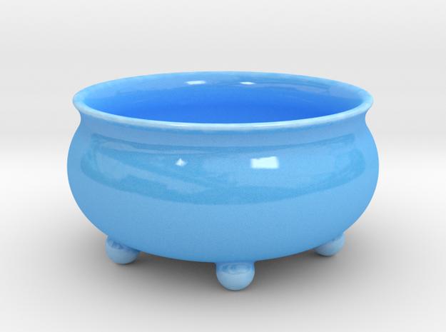 Salad dish in Gloss Blue Porcelain