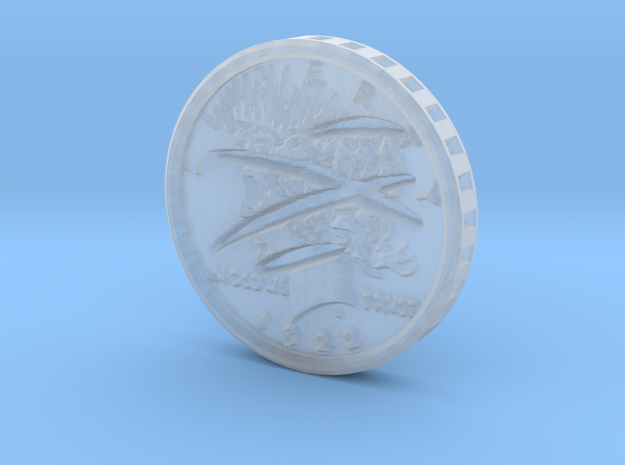 Two-Faced (one scarred) Silver Dollar 1:6 Scale in Smoothest Fine Detail Plastic