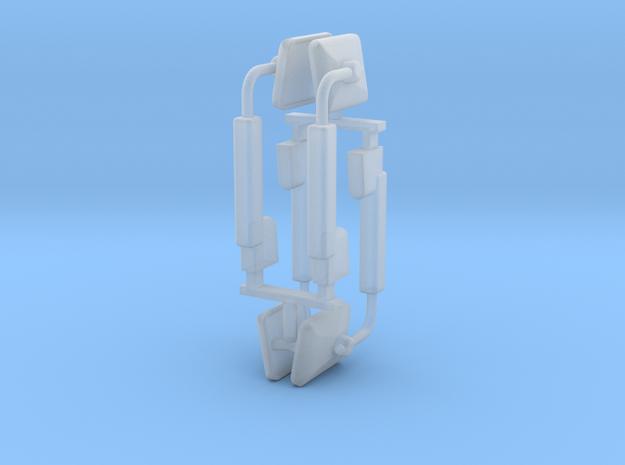(2) MODERN POWER ADJUST MIRROR SETS in Smooth Fine Detail Plastic