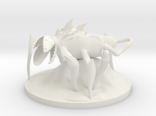 Dungeon Dweller  in White Natural Versatile Plastic