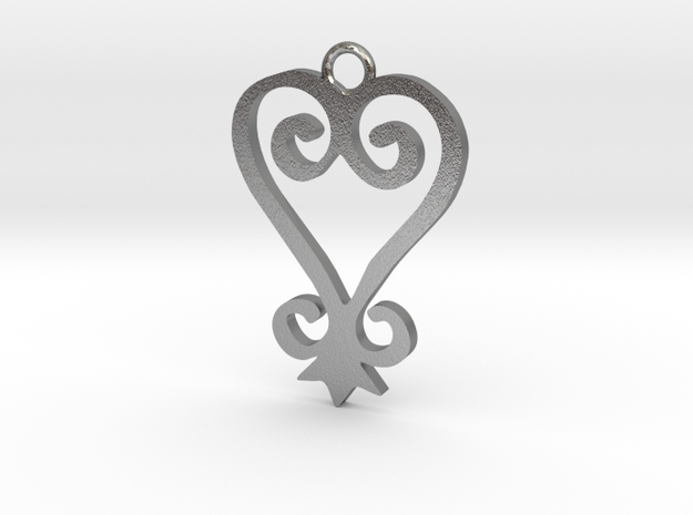 Sankofa Pendant in Natural Silver