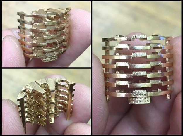 Heat Sink Fins for Rudy's Crystal Chamber in Natural Bronze