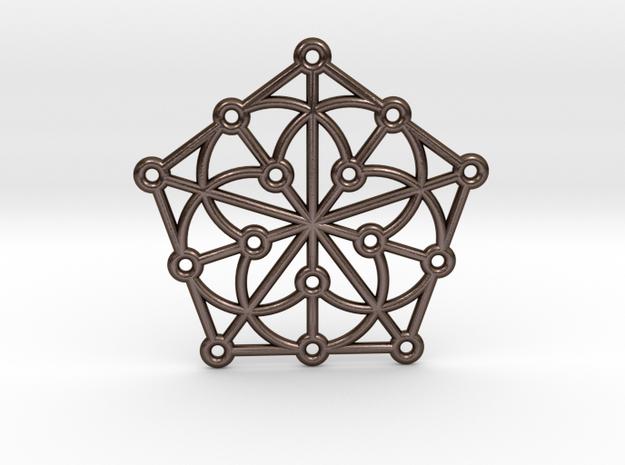 Generalized Quadrangle Pendant in Polished Bronze Steel