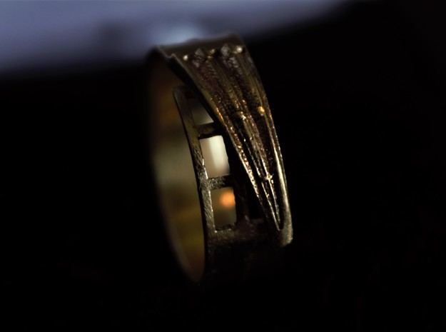 Hammershøi's window ring in 18k Gold Plated Brass: 5.25 / 49.625