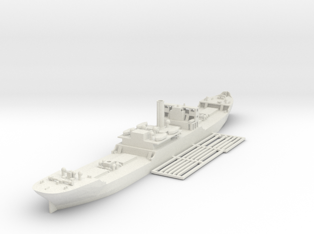 EFC 1013 WW1 freighter 1/600 & 1/700 in White Strong & Flexible: 1:600