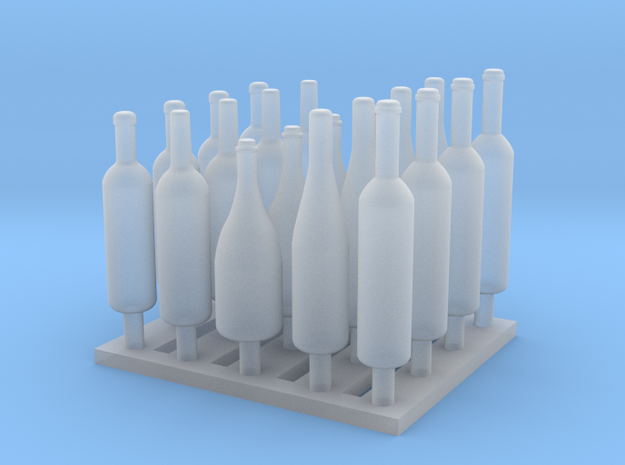 120mm or 1/15 Assorted Wine Bottles MSP15-001 in Frosted Ultra Detail