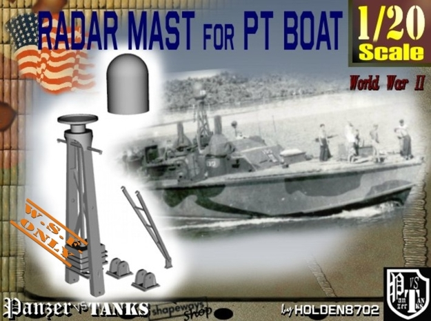 1-20 Radar Mast For PT BOAT