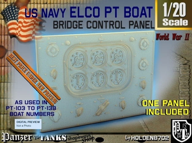 1-20 PT Boat Bridge Control Pannel Typ1