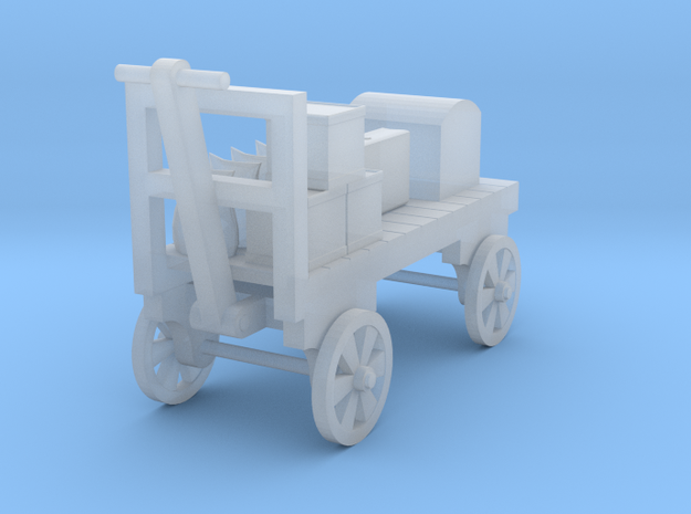 Baggage Cart Loaded - Half Size - HO 87:1 Scale in Smooth Fine Detail Plastic