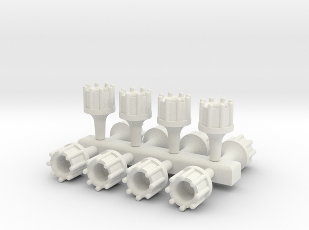 1/24 Scale Hollowed Distributor Bundle (12 Pack) in White Strong & Flexible