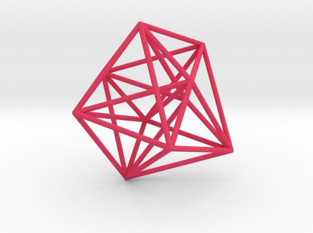 Truncated 4-Dimensional Simplex in Pink Processed Versatile Plastic