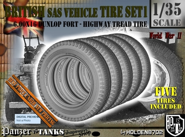 1/35 6.00 X 16 Dunlop Fort Tire SET1