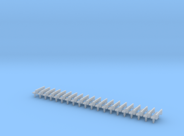 N Gauge Bench Seat Kit Type 3 in Frosted Ultra Detail