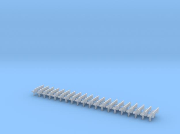 N Gauge Bench Seat Kit Type 3 in Smooth Fine Detail Plastic