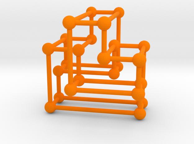 A(3) Orthotope in Orange Processed Versatile Plastic