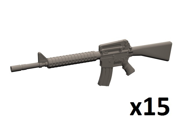 1/35 M16A2 rifles in Frosted Extreme Detail