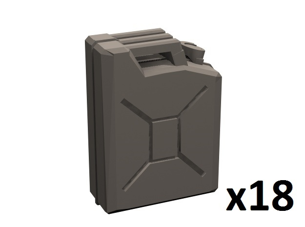 1/35 WW2 Italian jerrycan in Smoothest Fine Detail Plastic