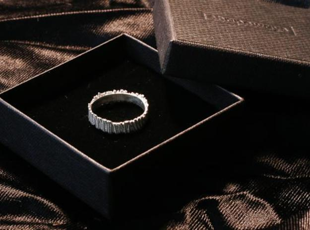 Matchstick Ring 3d printed Silver