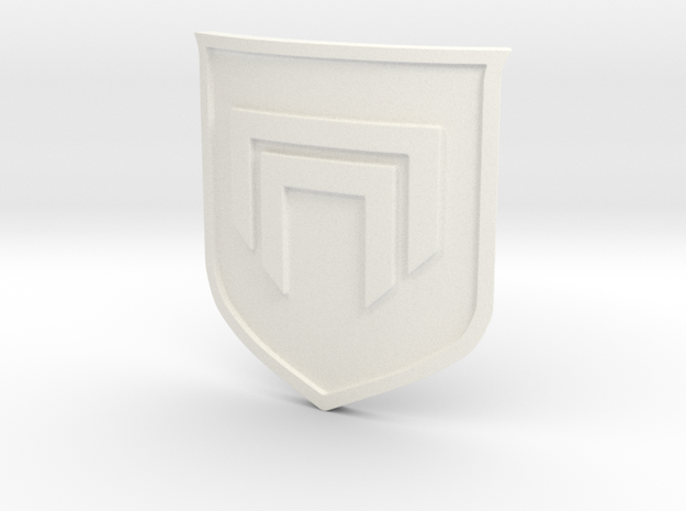 Destiny 2 Emblem - 2mm thick in White Processed Versatile Plastic