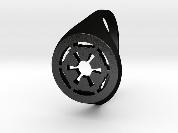 Galactic Empire in Matte Black Steel