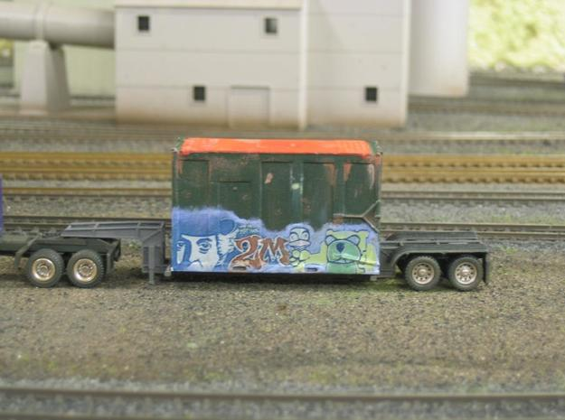 HO 1/87 MSW Trash Container for Atlas Flatcar