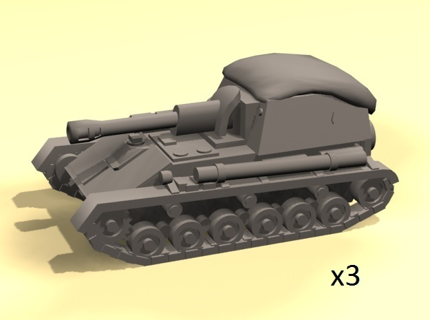 1/160 SU-76M spg in Smooth Fine Detail Plastic
