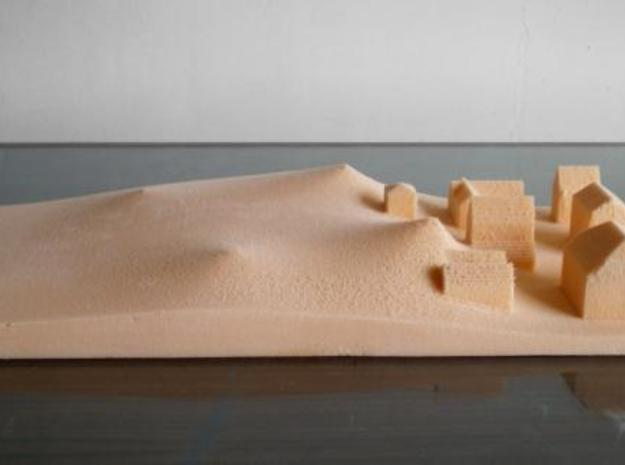 Tsunami 3d printed First attemp with CNC drill on polystyrene for clay pouring