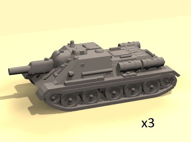 1/160 SU-122 self-propelled gun (WSF version) in Frosted Ultra Detail